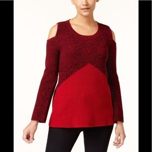Style & Co. Knit Sweater Cold-Shoulder